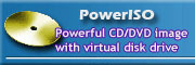 Powerful CD/DVD image with virtual disk drive.